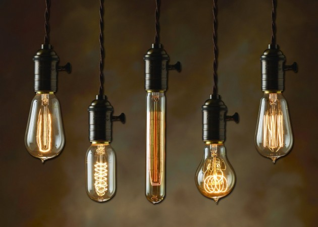 The Edison bulb is trending for 2015, giving an industrial vibe