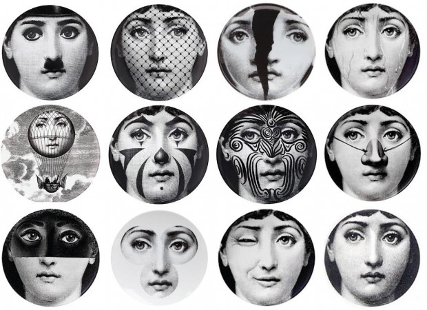 A sampling of the over 350 variations Fornasetti created