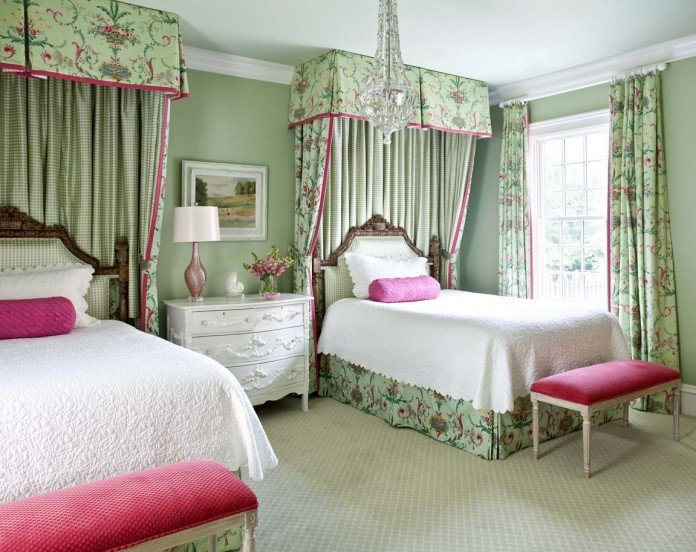 Twin beds make the guest room versatile