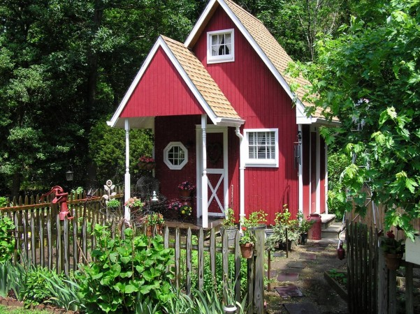 A charming garden shed can give you the private retreat you crave