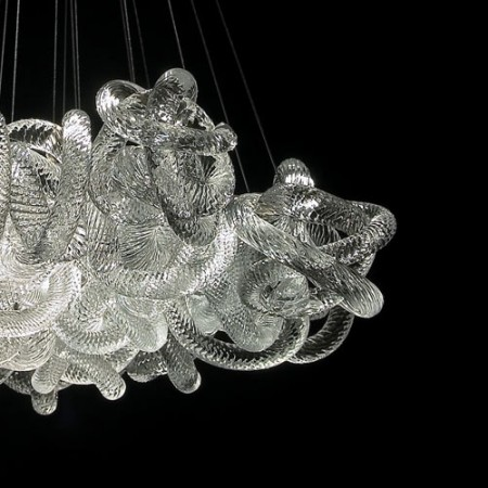Glass knot chandelier