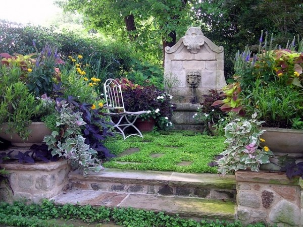 A well-placed chair in the garden can provide a peaceful retreat