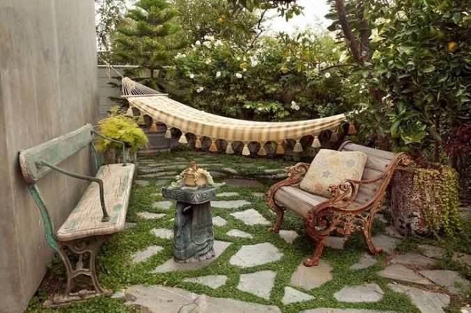 A cozy retreat with hammock