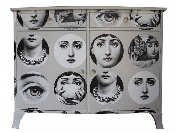 A chest with Fornasetti's variations of Lina Cavalieri's image