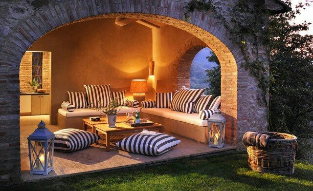 Create an outdoor room for relaxing