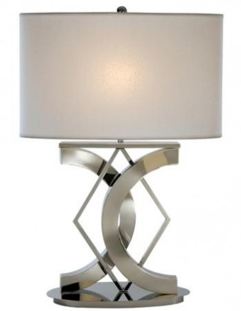 Lovely geometrically shaped table lamp