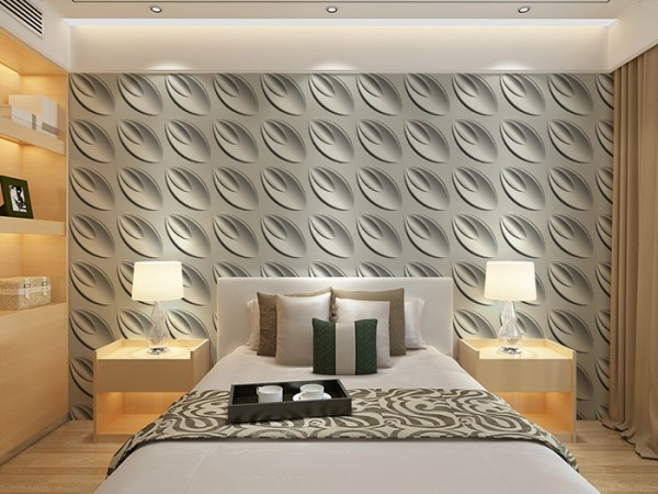 Textured panels make this wall pop