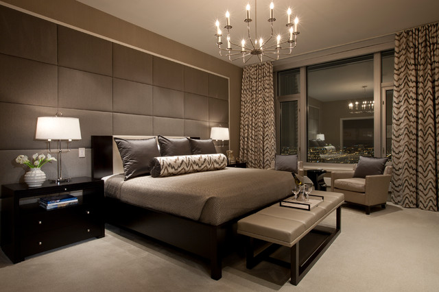 Ambiance and warmth in this master bedroom