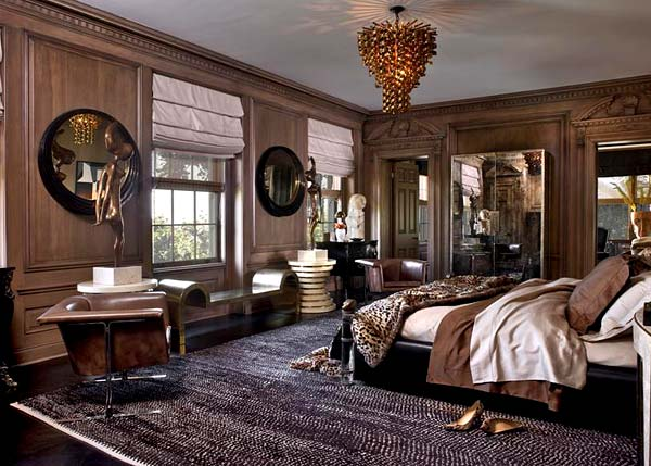 Glamorous bedroom designed by Kelly Wearstler
