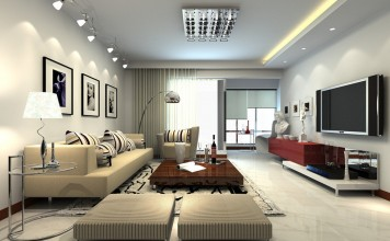 Minimalist interior design exhibits maximum style