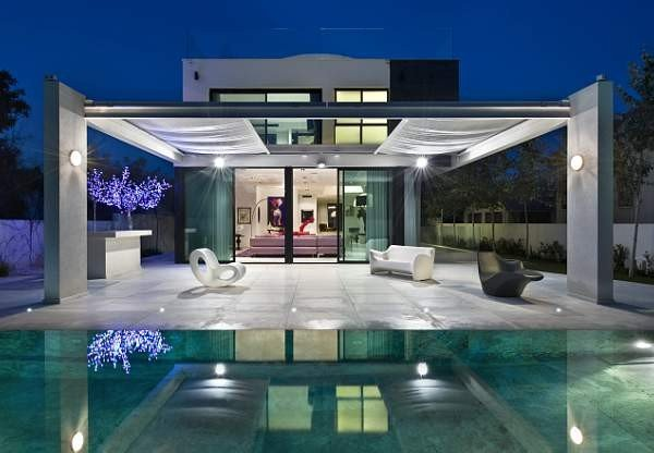 Beautiful modern outdoor living space