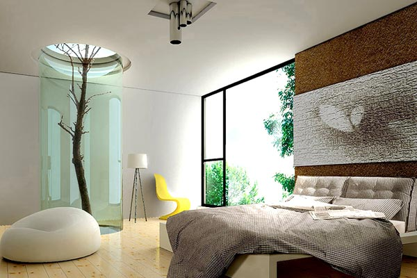Nature-inspired bedroom
