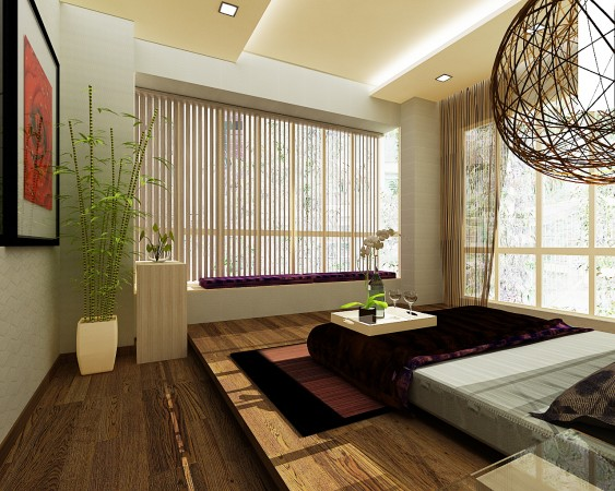 A very calming bedroom