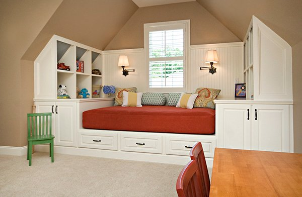 charming attic bedroom for kids thisoldhouse organized kids attic playroom - Ideas For Attic Bedrooms