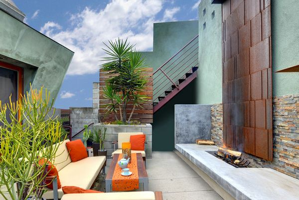 Modern rooftop living space