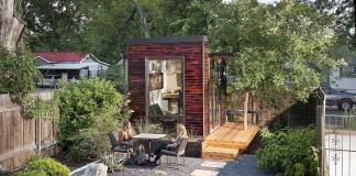 Small backyard home office