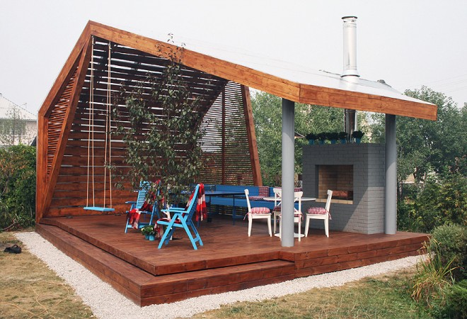 Modern outdoor shelter