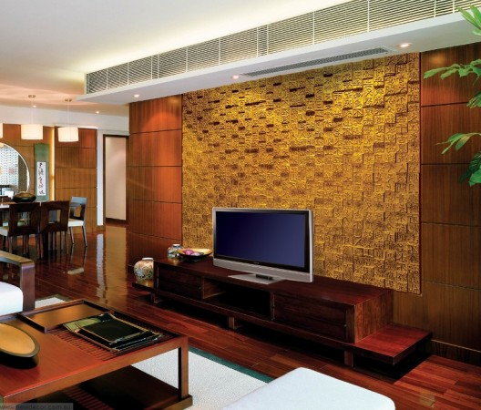 A textured panel highlights this television background