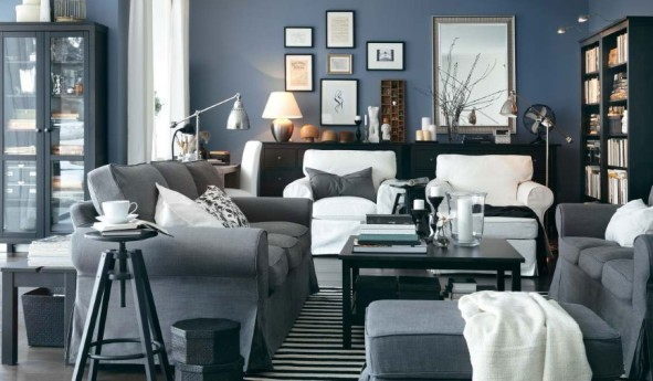total gray living room