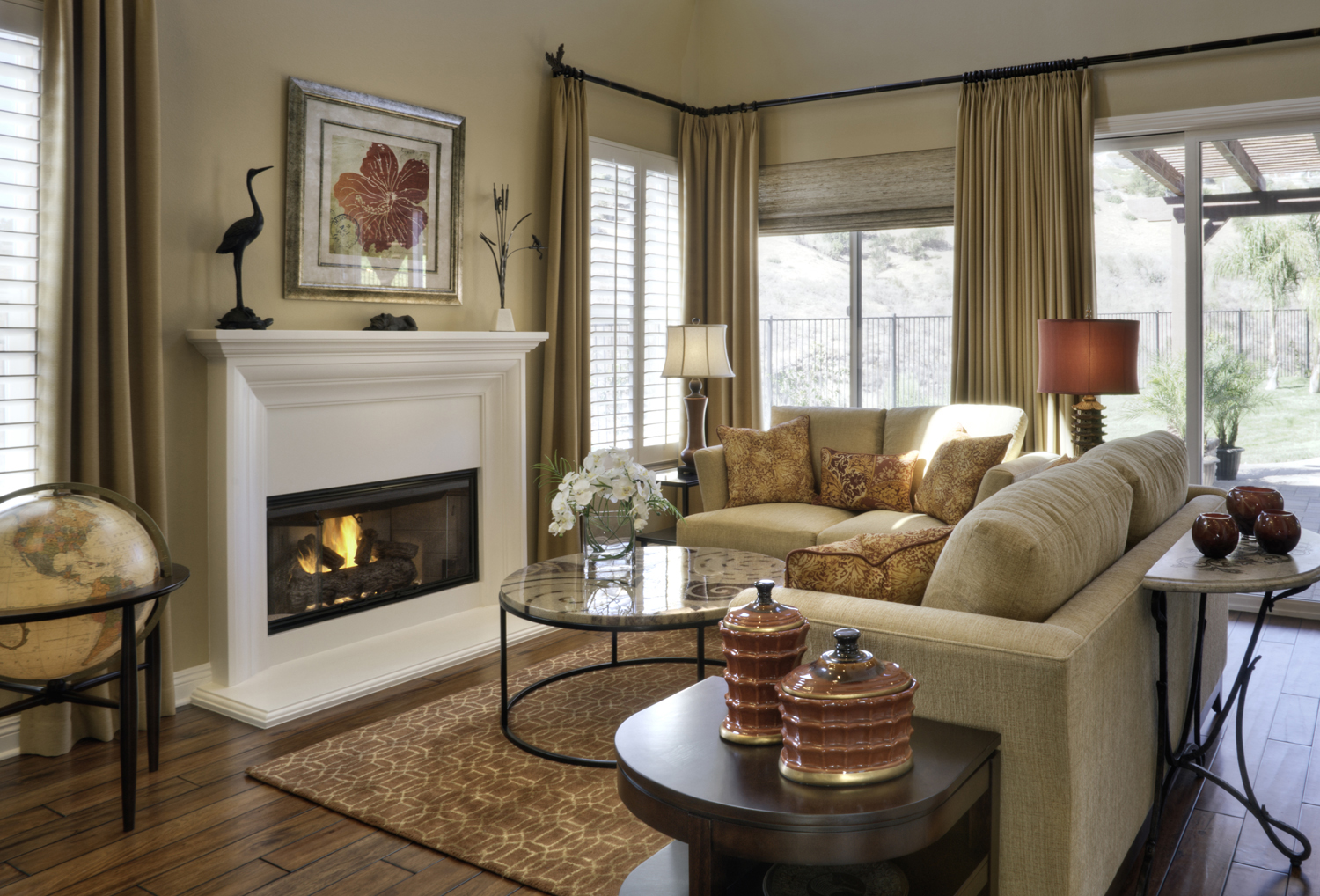 even subtle color additions bring warmth to a space for fall - Interior Design Living Room Warm