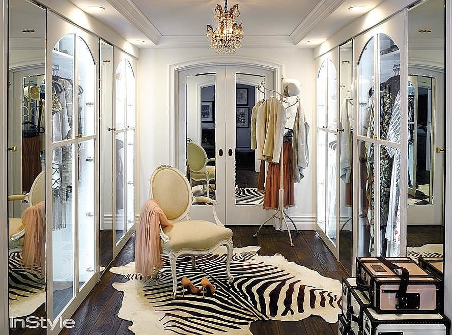 ... Decorative Touches Exude Glamour In This Walk In Closet