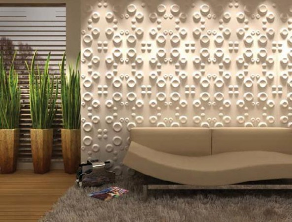 3D textured wall panels