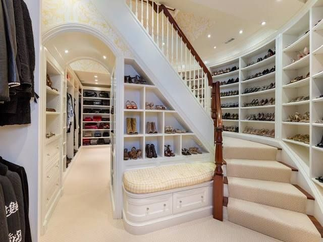 Plenty Of Space For Hanging Clothing In This Walk In Closet
