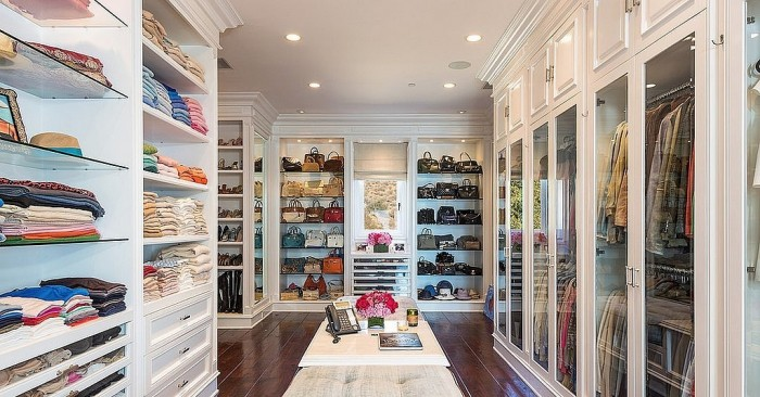 Plenty of space for everything in this walk-in closet