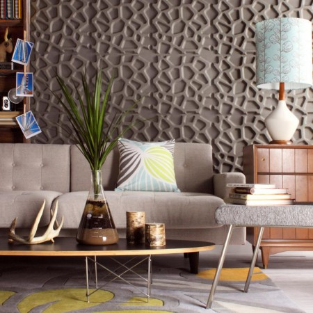 Earthy color and interesting texture in this 3D wall panel