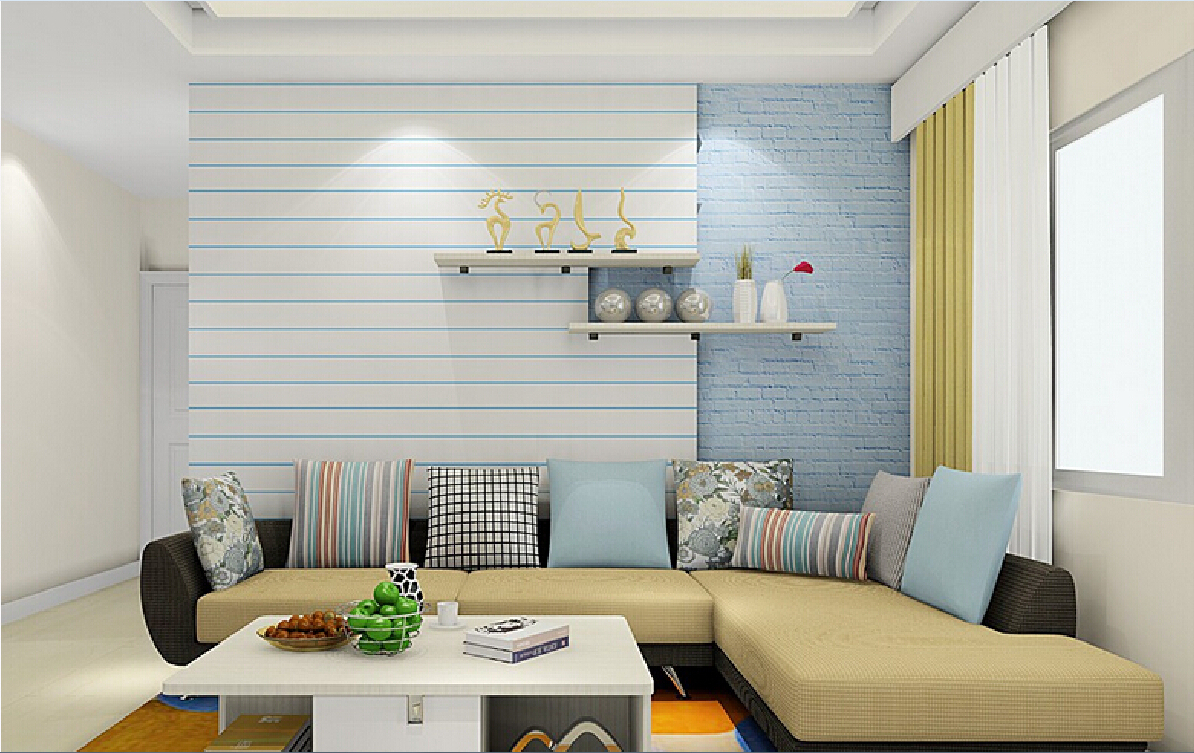 7 ways to incorporate stripes into your home decor for Top 10 living room wallpaper