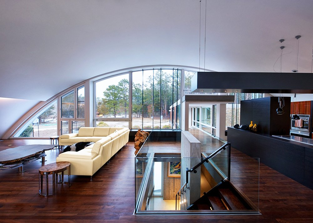 Homes above and below airplane hangar and underground homes for Interior designs of the house