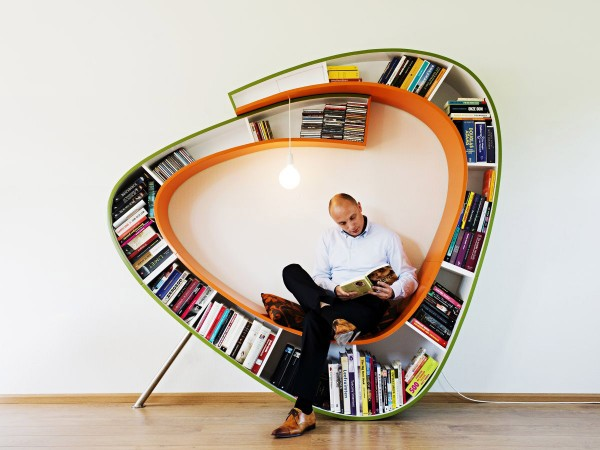 Bookworm Bookcase created by the Dutch designers Atelier 010