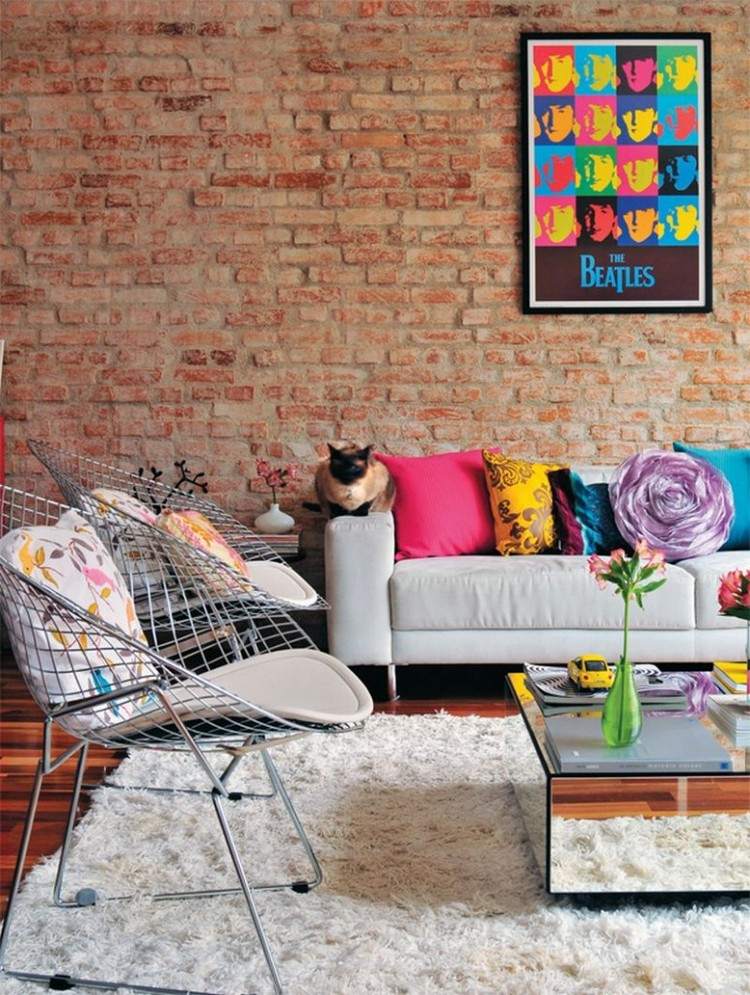 ... Cozy And Colorful Pop Art Living Room
