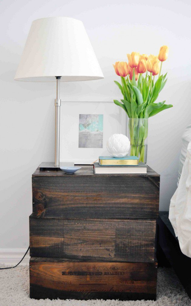 20 creative ideas for original diy nightstands What to do with wine crates