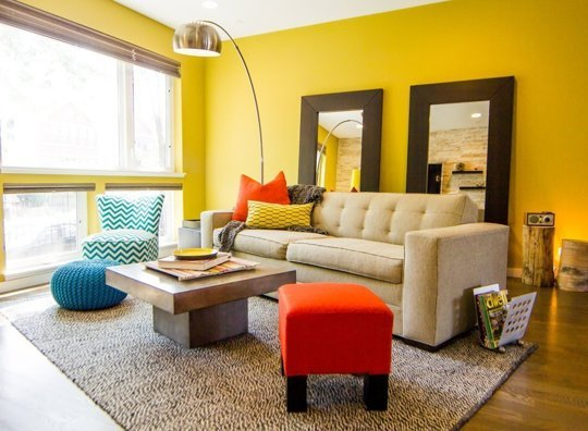 Brightness prevails with walls, furnishings and accents