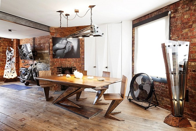 Rustic details enhance this space