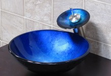 Beautiful cobalt blue vessel sink