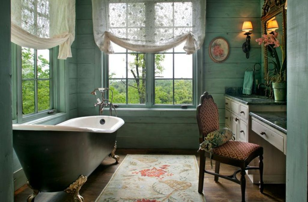 the elegance and charm of the clawfoot bathtub, Home designs