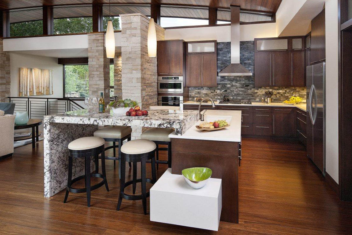 Open kitchen designs for Pictures for kitchen