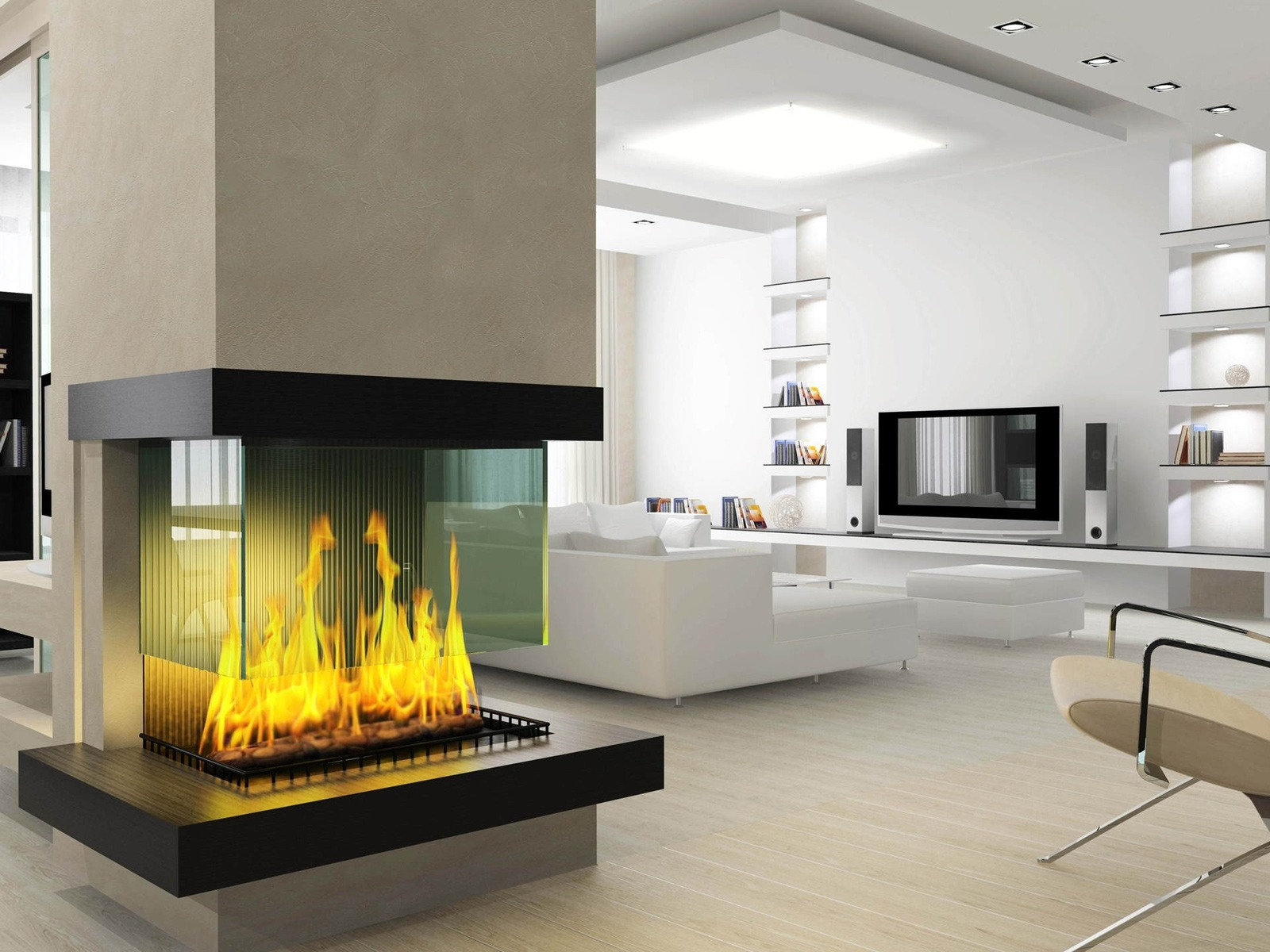 Open fireplace designs to warm your home - Modern fireplace ideas for your home ...