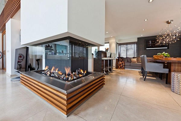 Open fireplace design