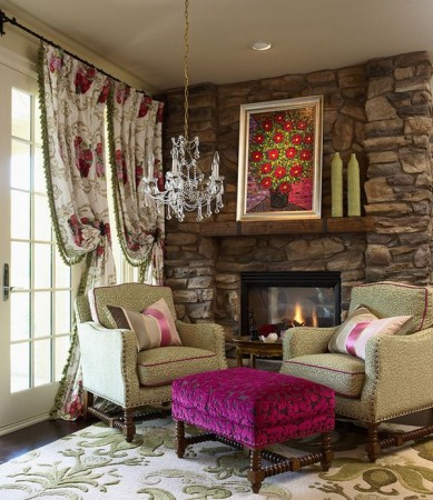 Beautiful colors enhance this cozy corner