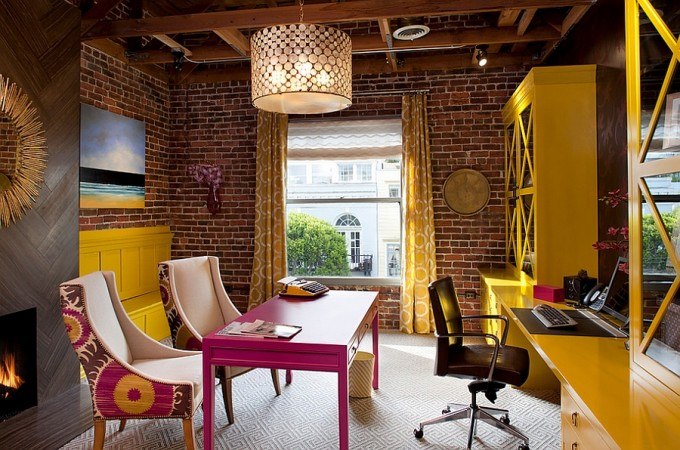 Wonderfully vibrant home office