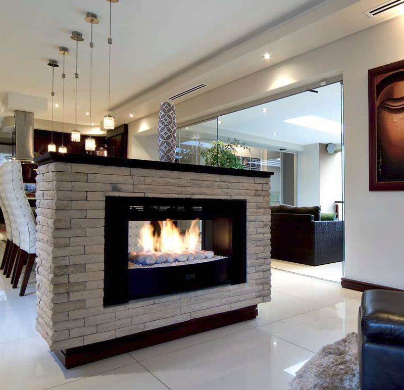 Open fireplace designs to warm your home 2 sided fireplace ideas