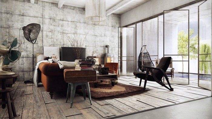 Strong industrial vibes in this interior