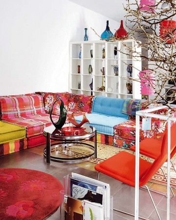 A colorful mix of furnishings