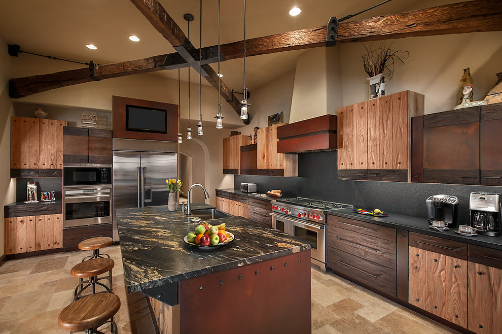 ... Beautiful Open Kitchen Design With Rustic Details