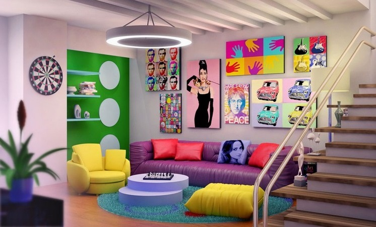 Amazing Art And Home Decor Part - 6: Interior Design Ideas In Pop-art Style
