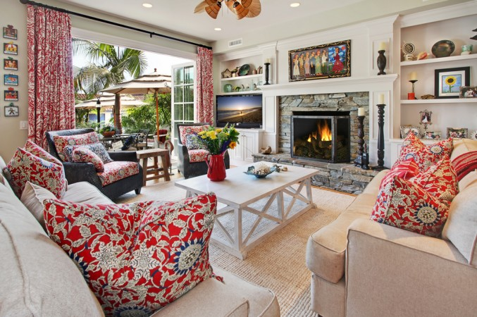 Colorful fabric brings vibrancy to this room