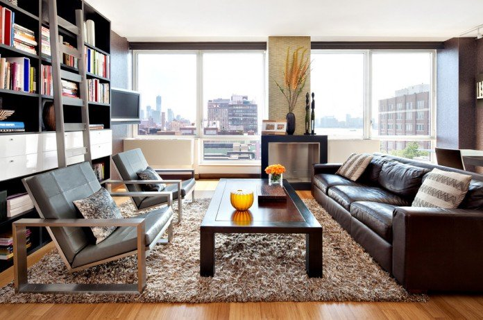 Leather seating in the modern home